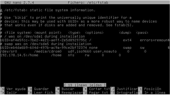 Failed mount en debian 9 - Club Linux - Foro del HackLab Almería